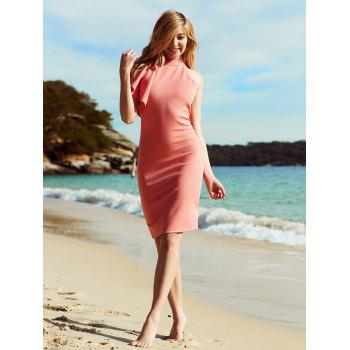 Alluring Women's Ruffled One-Shoulder Club Dress