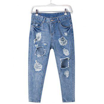 Plus Size Chic Destroyed Ripped Jeans