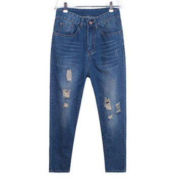 Plus Size Chic Crease Cross Jeans
