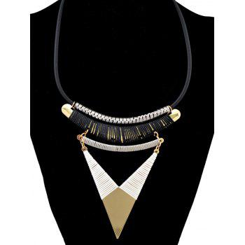 Bohemia Triangle Faux Leather Chain Necklace