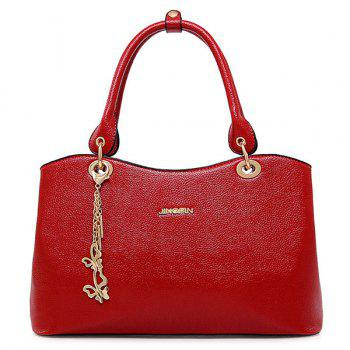 Elegant PU Leather and Chains Design Women's Tote Bag