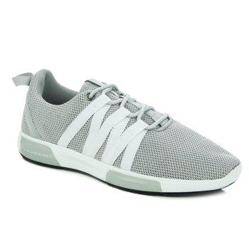 Fashionable Colour Splicing and Lace Up Design Men's Athletic Shoes