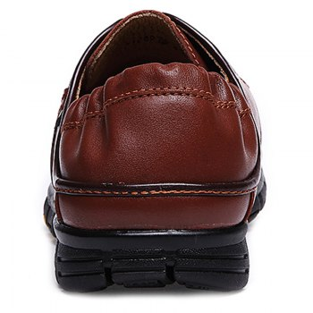 Stylish Breathable and Tie Up Design Men's Casual Shoes - BROWN 44