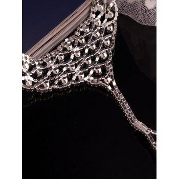 Fashionable Shiny Rhinestone Hollowed Anklet -  SILVER