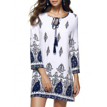 Bohemian Ethnic Floral Paisley Oversized Mini Dress