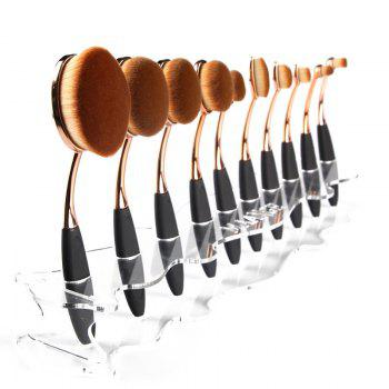 Cosmetic Detachable Brushtree Brush Holder Brush Display Stand - TRANSPARENT TRANSPARENT