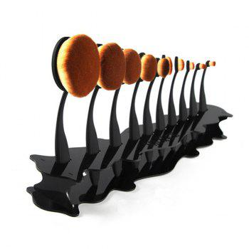 Cosmetic Detachable Brushtree Brush Holder Brush Display Stand - BLACK BLACK