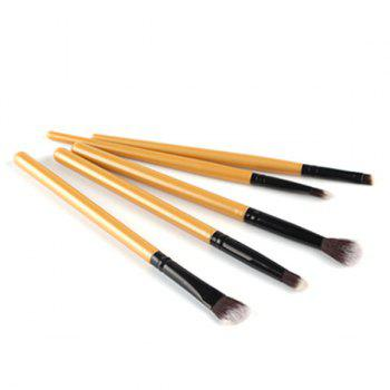 Cosmetic 5 Pcs Eyeshadow Nylon Eye Makeup Brushes Set -  GOLDEN