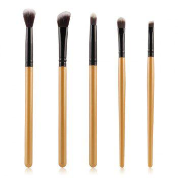 Cosmetic 5 Pcs Eyeshadow Nylon Eye Makeup Brushes Set - GOLDEN GOLDEN