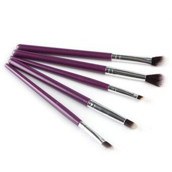 Cosmetic 5 Pieces Portable Maquillage Nylon Eye Pinceaux - Pourpre