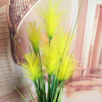 Creative Fake Yellow Bulrush Home Party Decorative Artificial Flower -  YELLOW