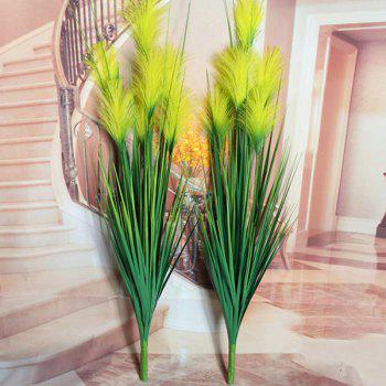 Creative Fake Yellow Bulrush Home Party Decorative Artificial Flower - YELLOW YELLOW