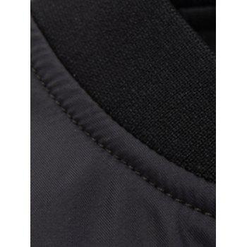 Zippered Spliced Stand Collar Men's Long Sleeve Jacket - BLACK XL