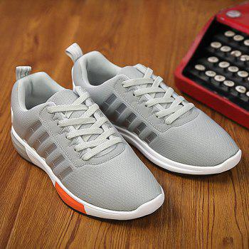 Chaussures Trendy Tie Up and Stripes design Men  's - Gris Clair 40