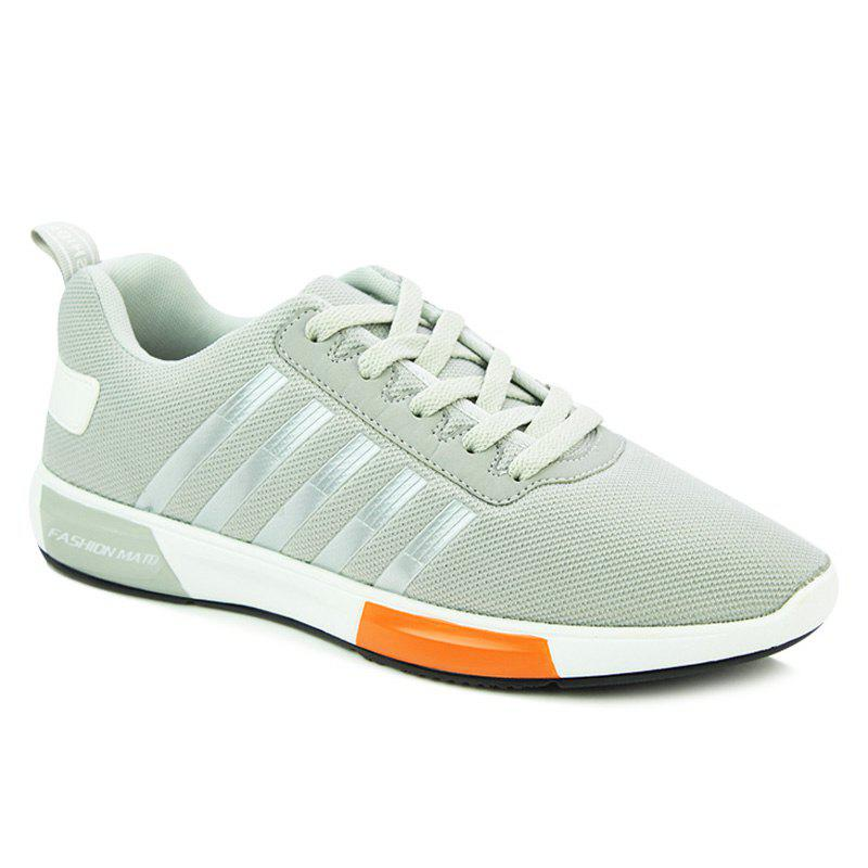 Trendy Tie Up and Stripes Design Men's Athletic Shoes