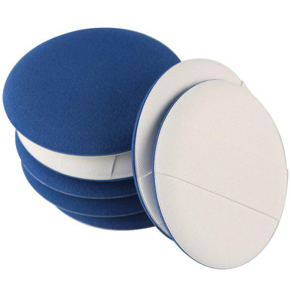 Cosmetic 7 Pcs Round Dual-Use Dry and Wet Calm Makeup BB Cream Air Puffs - BLUE