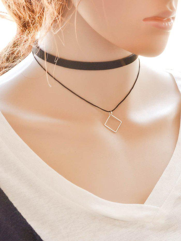 Square Alloy Choker - BLACK