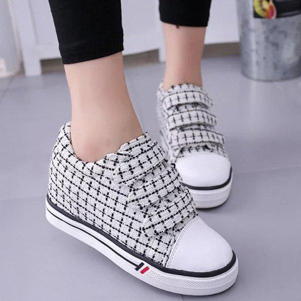 Stylish Color Splicing and Cloth Design Women's Athletic Shoes - WHITE 37