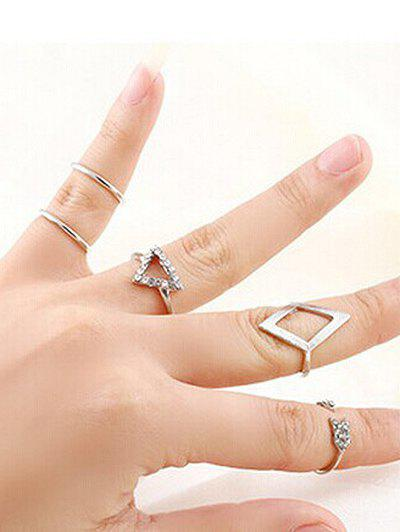 Vintage Geometric Rings - SILVER ONE-SIZE
