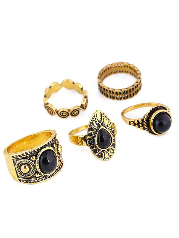 Vintage Water Drop Rings - GOLDEN ONE-SIZE