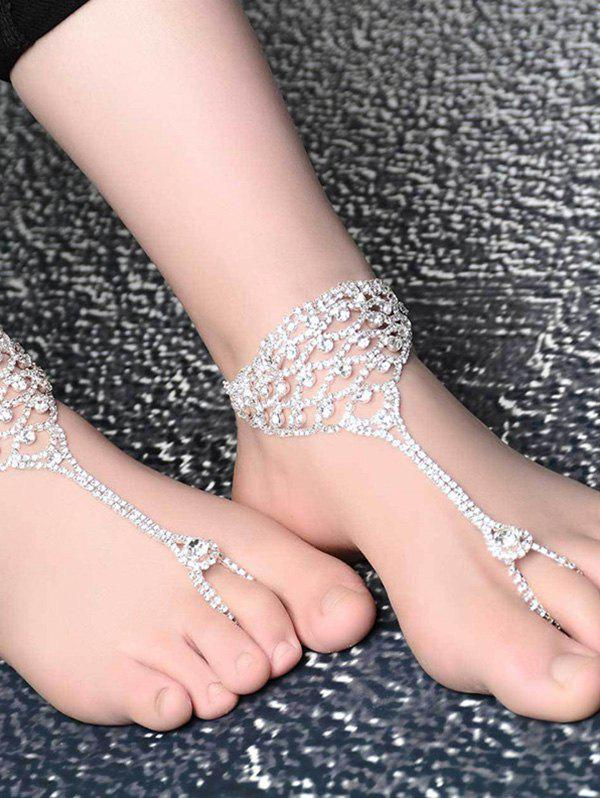 Fashionable Shiny Rhinestone Hollowed Anklet