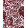 Bohemian Keyhole Paisley Loose Asymmetric  Dress - COLORMIX 2XL