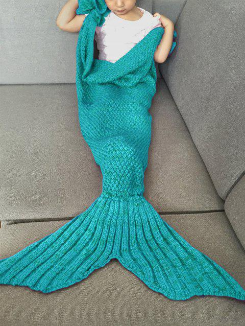 Fashion Knitted Falbala Shape Mermaid Tail Design Blankets For Baby