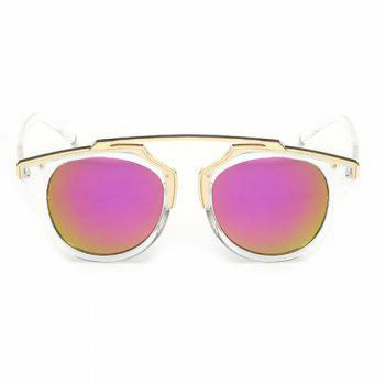 Chic Golden Metal Splicing Black Frame Women's Sunglasses