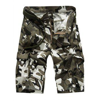 Fashion Loose Fitting Camo Bomber Shorts For Men