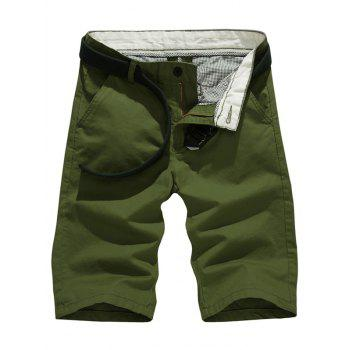 Casual Solid Color Slim Fit Shorts For Men