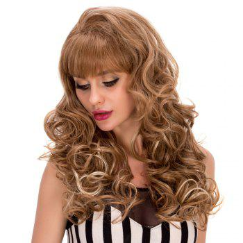 Women's Long Curly Full Bang Fashion Synthetic Hair Wig - COLORMIX