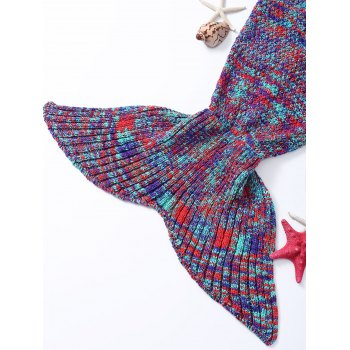 High Quality Warmth Colorful Knitted Fish Tail Design Blanket - COLORMIX