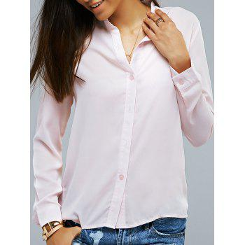 Long Sleeve Light Pink Shirt