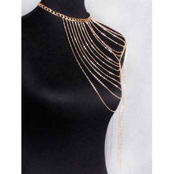 Vintage Hollow Out Body Chain -  GOLDEN