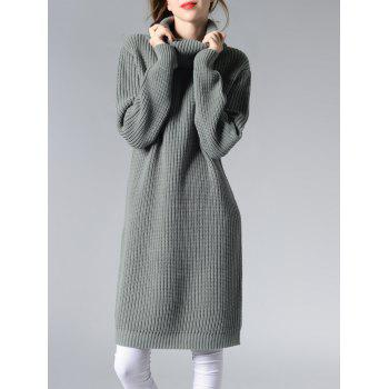 Turtle Neck Solid Color Women's Long Sweater