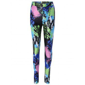 Color Block Printed Skinny Leggings