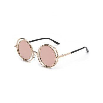 Stylish Pink Round Mirrored Sunglasses