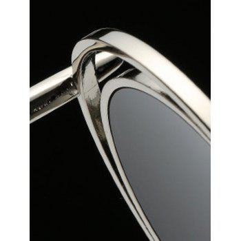 Stylish Wire Frame Round Sunglasses - BLACK GREY