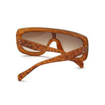 Leopard Oversized Alpina Shield Sunglasses - LEOPARD