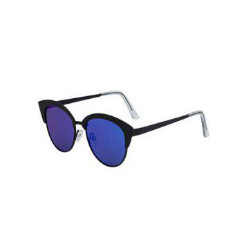 Stylish Cat Eye Pilot Mirrored Sunglasses