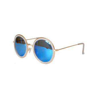 Stylish Full Frame Mirrored Round Sunglasses