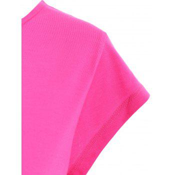 Active Scoop Neck Short Sleeve Candy Color Sport T-Shirt For Women - PEACH RED PEACH RED