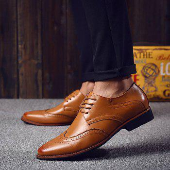 Fashion Tie Up and Wingtip Design Men's Formal Shoes - 40 40