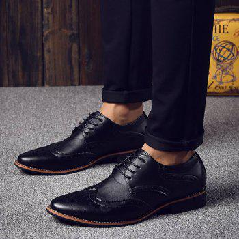 Fashion Tie Up and Wingtip Design Men's Formal Shoes - 44 44