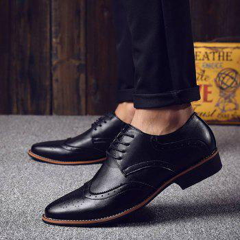 Fashion Tie Up and Wingtip Design Men's Formal Shoes - 42 42