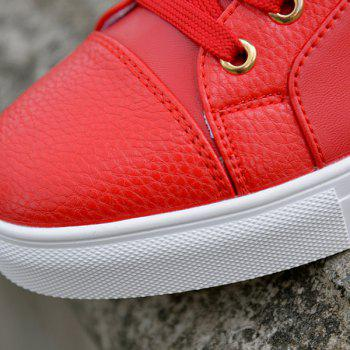 Trendy Tie Up and Metal Design Men's Casual Shoes - RED 43