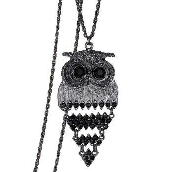 Trendy Alloy Owl Sweater Chain For Women - BLACK BLACK