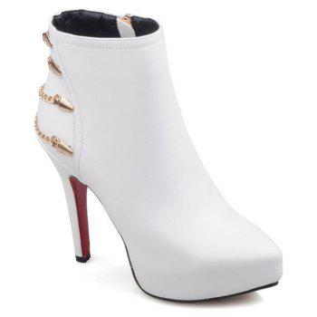 Chic Platform and Chains Design Women's Short Boots