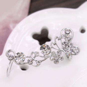 Filigree Rhinestone Butterfly Ear Cuff