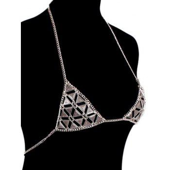 Vintage Chain Bra Triangle Body - Argent